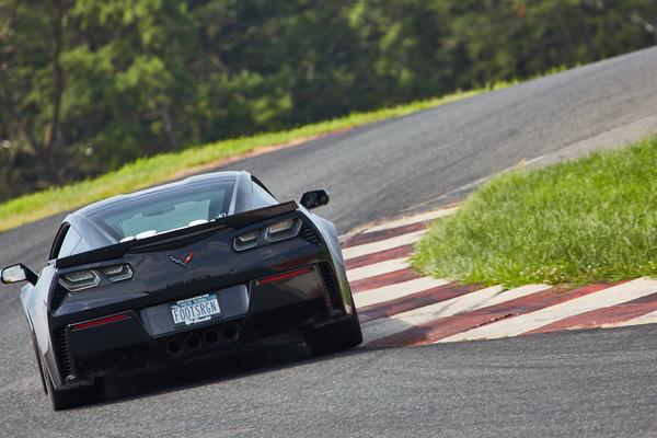3 Black Corvette