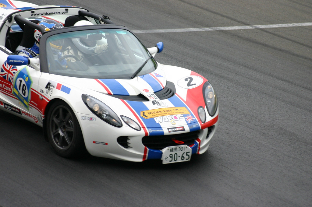 taking the lotus cup car out for a few laps