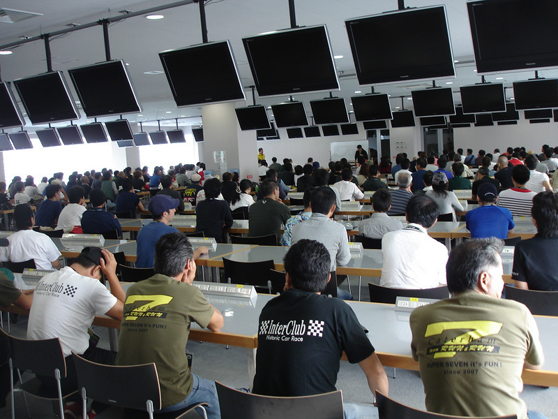 this is what a driver briefing for 600 drivers looks like