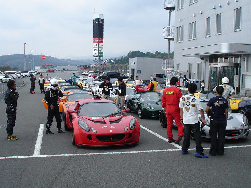 waiting for our session to start (50 cars)