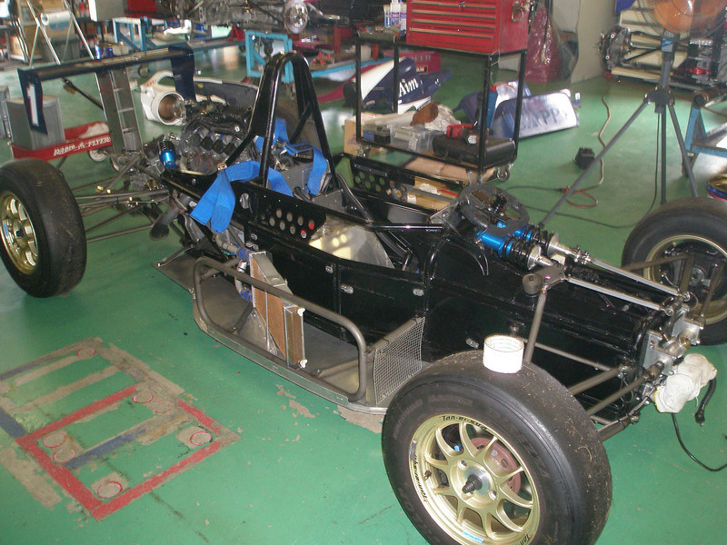 chassis - car with all body panels removed