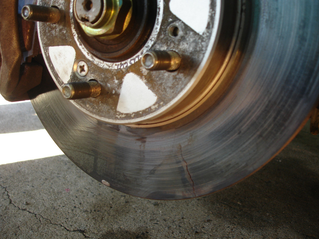 3 inch long crack going across rotor  noticed just before race start!