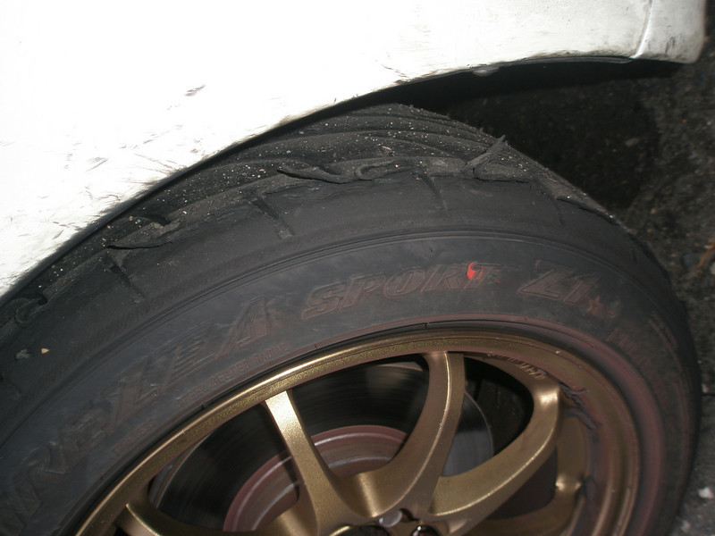2nd set of tyres after 4 hrs