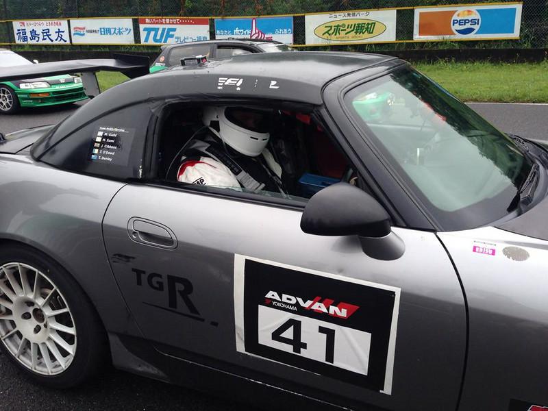 Tim on the starting grid