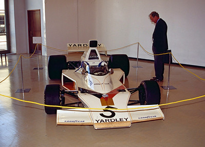 Yardley McLaren F1 car (1973 M23 I think) - Denny Hulme.  Car on display in museum adjacent to track.