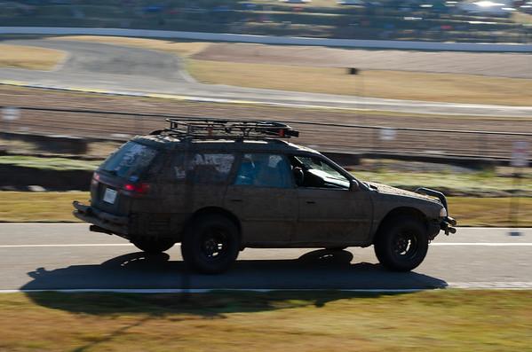 A very dirty Subaru.