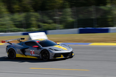 The C8.R did a quick single lap before the race.  Not a great shot, it was out and gone almost before we realized it was even there.
