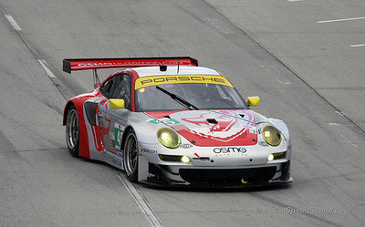 Flying Lizard Motorsports Porsche 911 RSR at Toyota Grand Prix of Long Beach ALMS