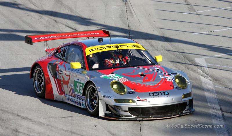 Flying Lizard Motorsports Porsche 911 RSR at Toyota Grand Prix of Long Beach ALMS