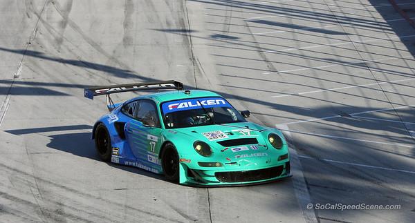 Team Falken Porsche 911 RSR at Toyota Grand Prix of Long Beach ALMS
