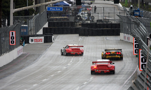 Flying Lizards and Corvette Racing  - Wet Qualifying Toyota Grand Prix of Long Beach