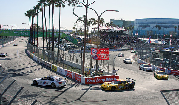 View From Hairpin, Lap 1, Toyota Grand Prix of Long Beach ALMS