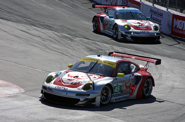 Flying Lizard Porsche's Enter the Hairpin at Toyota Grand Prix of Long Beach ALMS