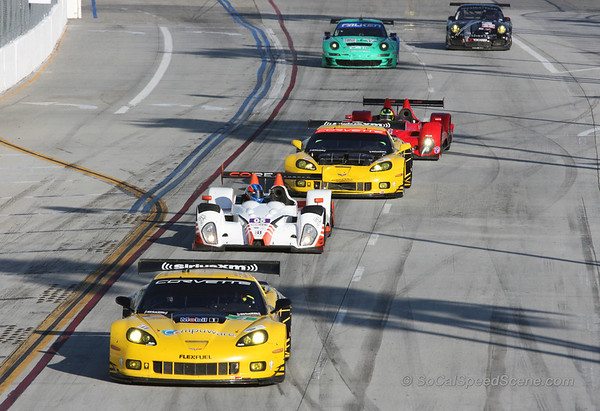 Corvette Racing #4 Leads Into Turn 1 - Toyota Grand Prix of Long Beach ALMS