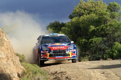 Miko Hirvonen, Citroen DS3 WRC, SS1 Kineta.