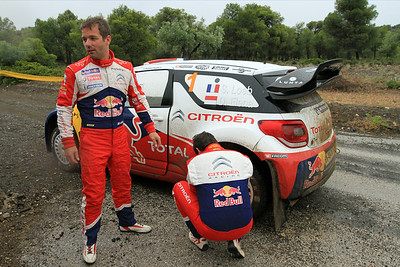 Sebastian Loeb and Daniel Elena, Citroen DS3 WRC, Qualifying stage.