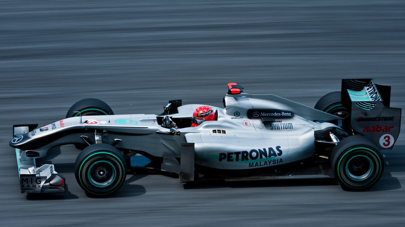 F1-1 Malaysia, Sepang 2010 <br /> Michael Schumacher - Mercedes