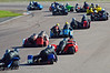 The start of the CSC Open & F2 Sidecar race