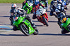 Michael Golden (Suzuki GSXR 600) and Daniel Fuller (Kawasaki ZX6R) lead the rest of the field