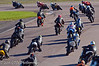 "The start of the ""Pirelli UK GP45 Twins & Singles Performance Red Mini Twins"" qualification race"