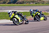 Gary Johnson (Suzuki GSXR 1000) leads Peter Carr (Yamaha R1 1000)
