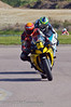 Roo Cotton (Yamaha R1 1000) leads Mark Compton (Reaper 1000)