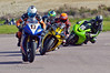 Phil Bevan (Yamaha R1 1000) leads Roo Cotton (Yamaha R1 1000), Mark Compton (Reaper 1000) and Paul Shook (Kawasaki ZX10 1000)