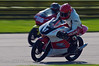 Andrew Fisher (Honda GP 125) leads Thomas Williams (Aprilia RS 125)