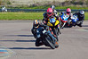 Danny Frankham (Honda CBR 600 RR) leads Davy Morgan (Yamaha R6) and other riders