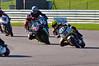 Philip Hacker (Yamaha FJ1100) leads Simon O'Donnell (Suzuki GSXR1000)