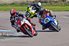 Cliff Tabiner (Yamaha YZF 998) leads Lee Coope (Honda Fireblade 1000) and Gary Johnson (Suzuki GSXR 1000)