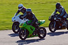 David Matchett (Kawasaki ER6F) leads Ali Black (Suzuki SV650) and James Francis (Suzuki SV650)