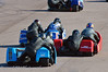 Close racing in the sidecars