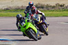 Paul Shook (Kawasaki ZX10 1000) leads Chris Pope (Yamaha R1)