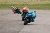 Tom Sykes - Rizla Suzuki chasing David Johnson - Team Maxxis Honda