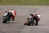 Micheal Rutter - North West 200 Ducati passing David Johnson - Team Maxxis Honda