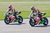 Michael Rutter leads his team mate Martin Jessopp (Riders Motorcycles Ducati)