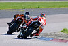 Michael Neaves (Team MCN Triumph 675) chasing Ben Miller (TPW Racing Triumph 675)