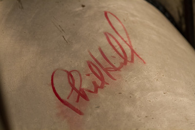 Phill Hill signature on underside of hood