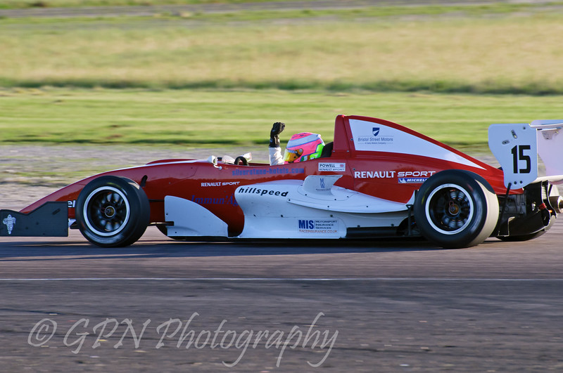 Alice Powell (Hillspeed) takes the championship at the last race of the year - Protyre Formula Renault BARC Championship