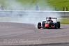 Roman Beregech (Antel Motorsport) locking up - Protyre Formula Renault BARC Championship
