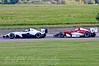 Luke Wright (SWB Motorsport) leads Alice Powell (Hillspeed) - Protyre Formula Renault BARC Championship