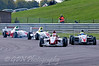 Alice Powell (Hillspeed) leads Luke Wright (SWB Motorsport), Mitchell Hale (Fortec Motorsport) & Josh Webster (Welch Motorsport) - Protyre Formula Renault BARC Championship