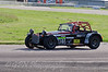 Mick Whitehead (Caterham 7) with bonnet damage - Easytrack Caterham Graduate Championship (Super)