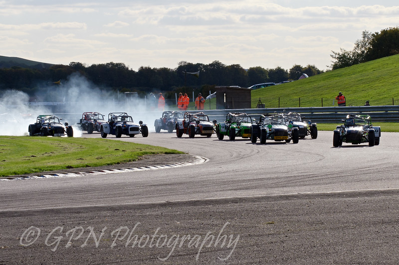 The restart of the Super Caterham race