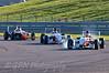 Alice Powell (Hillspeed) leads James Theodore (Hillspeed) & Dino Zamparelli (Antel Motorsport) - Protyre Formula Renault BARC Championship