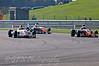 Mitchell Hale (Fortec Motorsport) passing Roman Beregech (Antel Motorsport) & Matt Draper (Antel Motorsport) - Protyre Formula Renault BARC Championship