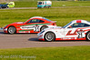 Seb Morris dives inside George Gamble - Ginetta Junior Championship