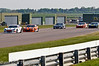 Carl Breeze leads the start of the Ginetta GT Supercup race - Ginetta GT Supercup