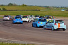 First lap action at the complex - Renault Clio Cup UK